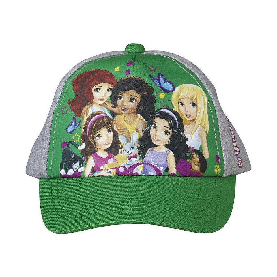 "LEGO Wear LEGO® Wear Friends ""Five Girls"" Kinder Basecap Albertine Baseba in grün/grau"