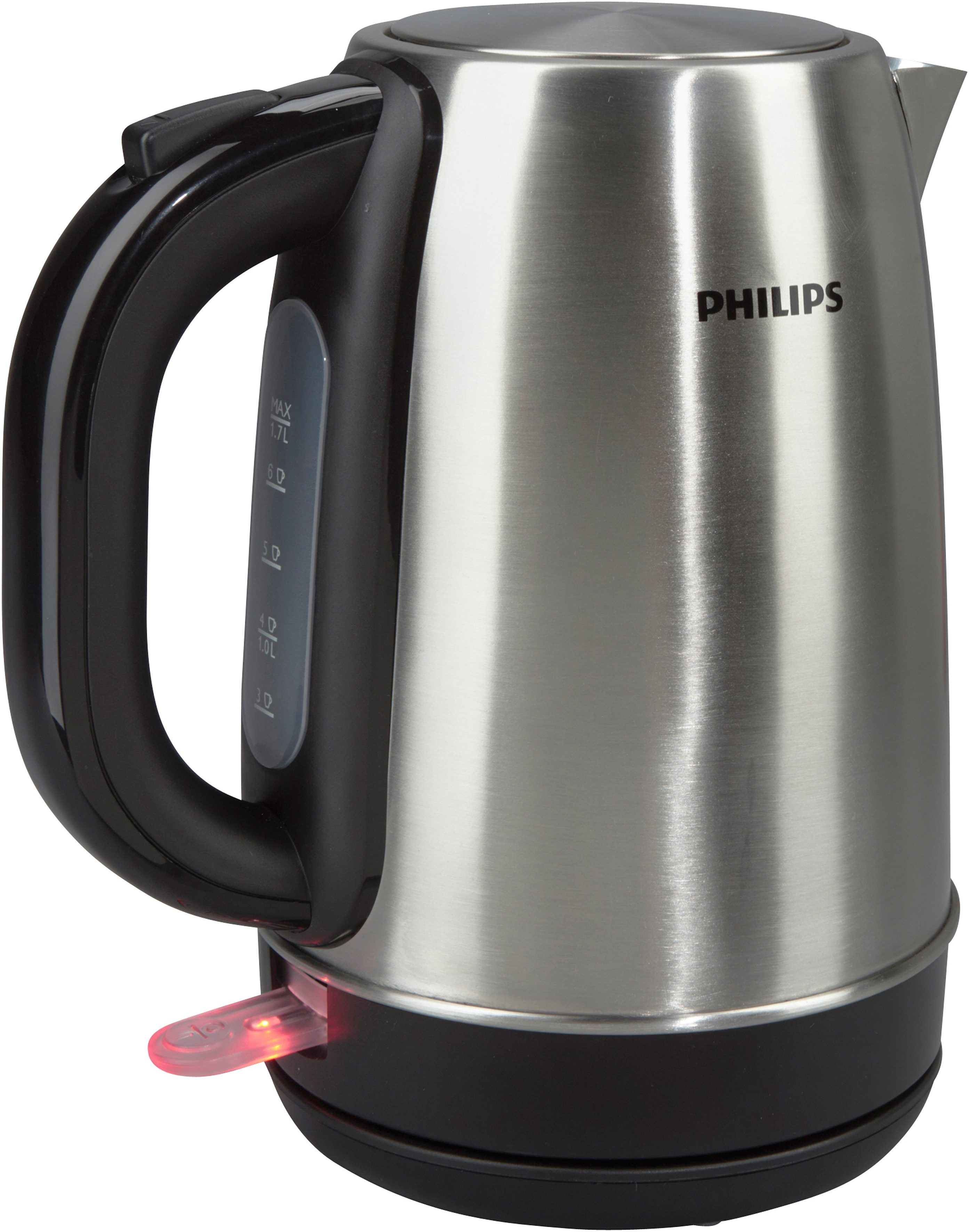 Philips Wasserkocher HD9321/00, 2200 Watt, für 1,7 Liter, Edelstahl