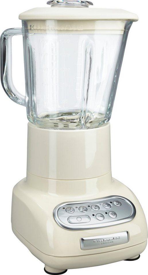 KitchenAid Artisan Standmixer 5KSB5553EAC, 550 Watt, 5 Stufen, Creme in Creme
