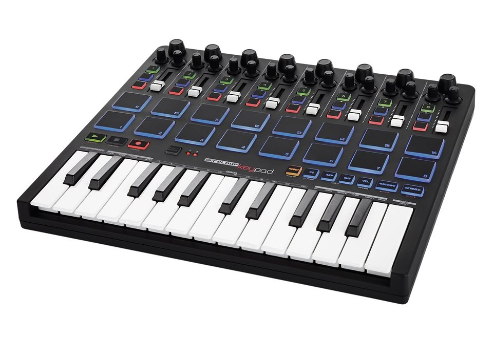 USB-MIDI-Keyboard, Reloop, »Keypad«, mit DAW-Kontrolle und Drumpads in schwarz