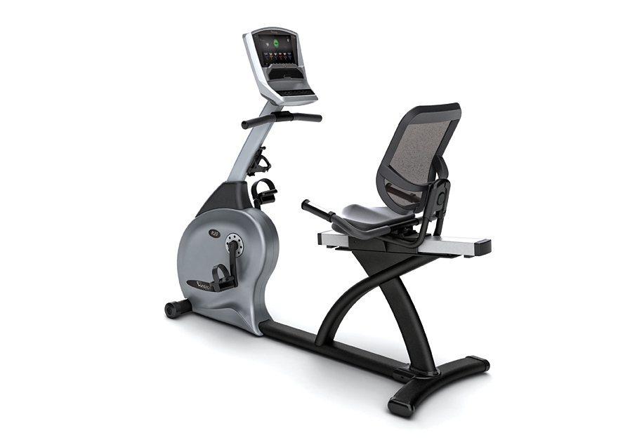 Halbliege Ergometer, 3 Konsolenvarianten wählbar, »R20«, Vision Fitness in schwarz-silber