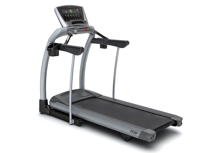 Laufband, 3 Konsolenvarianten wählbar, »TF20«, Vision Fitness in grau-schwarz