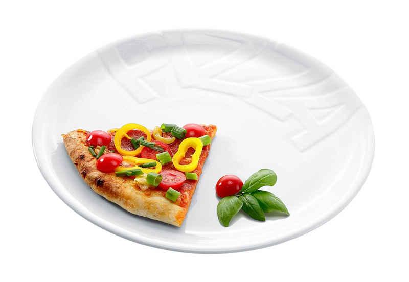 CreaTable Pizzateller, (4 Stück), Porzellan