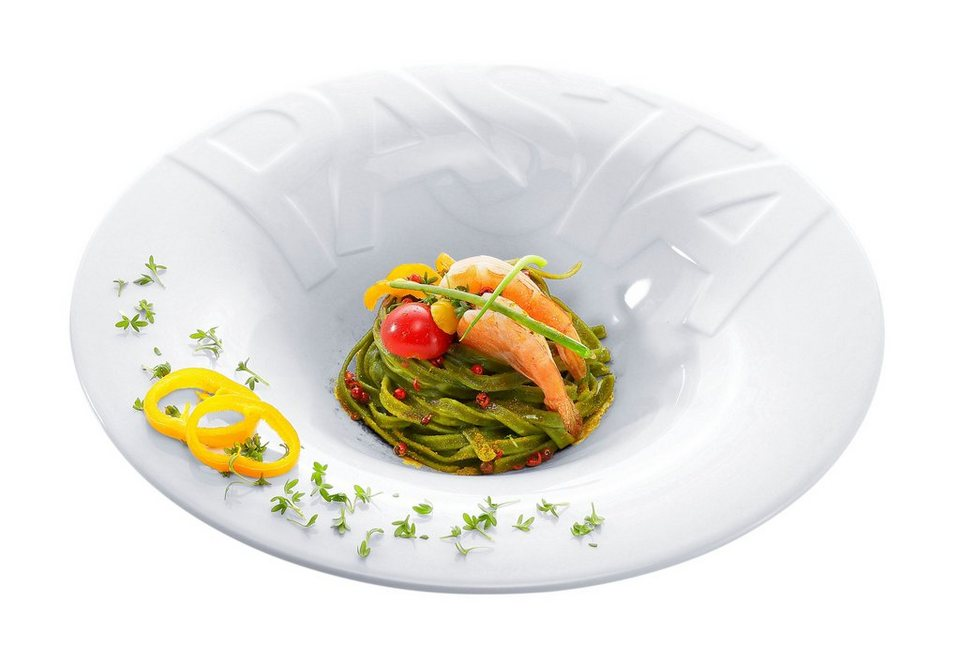 Pastateller, CreaTable (4 Stck.) in weiß