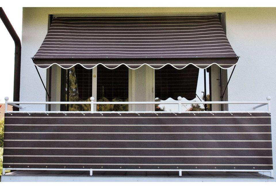 Balkonsichtschutz »Polyacryl, braun/weiß« in 2 Breiten in braun