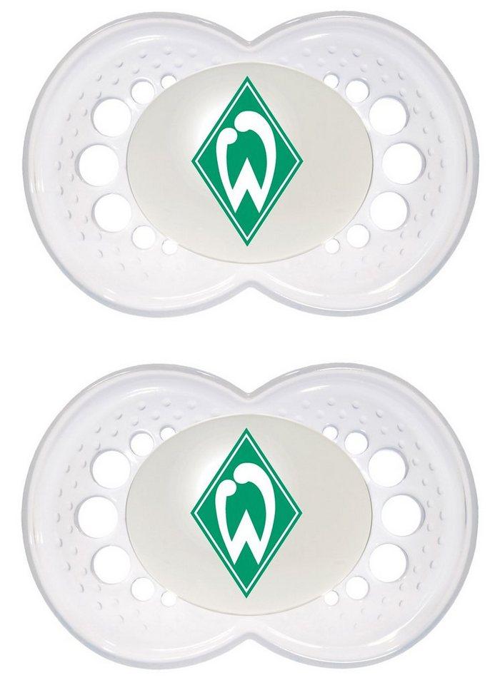 MAM Schnuller Fußball, Silikon, Gr. 2, SV Werder Bremen in grün