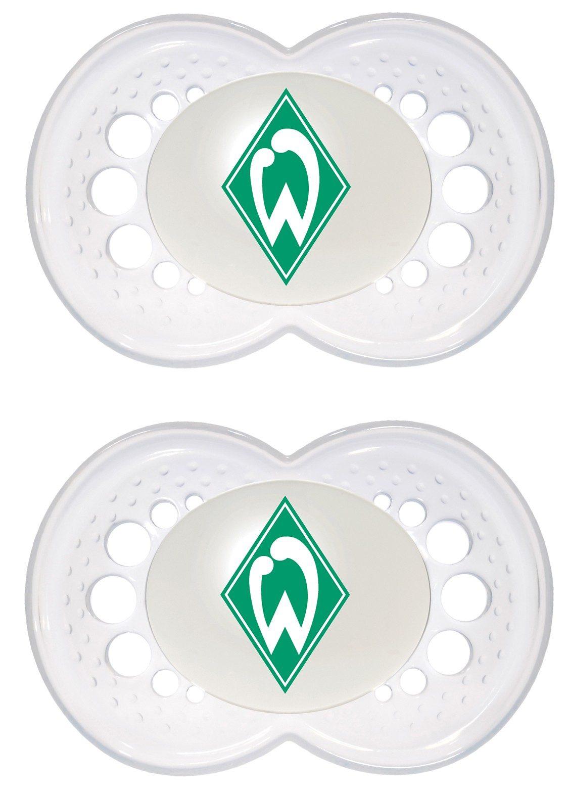 MAM Schnuller Fußball, Silikon, Gr. 2, SV Werder Bremen