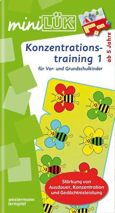LÜK mini Übungsheft: Konzentrationstraining 1 für Vor- und Grundsch