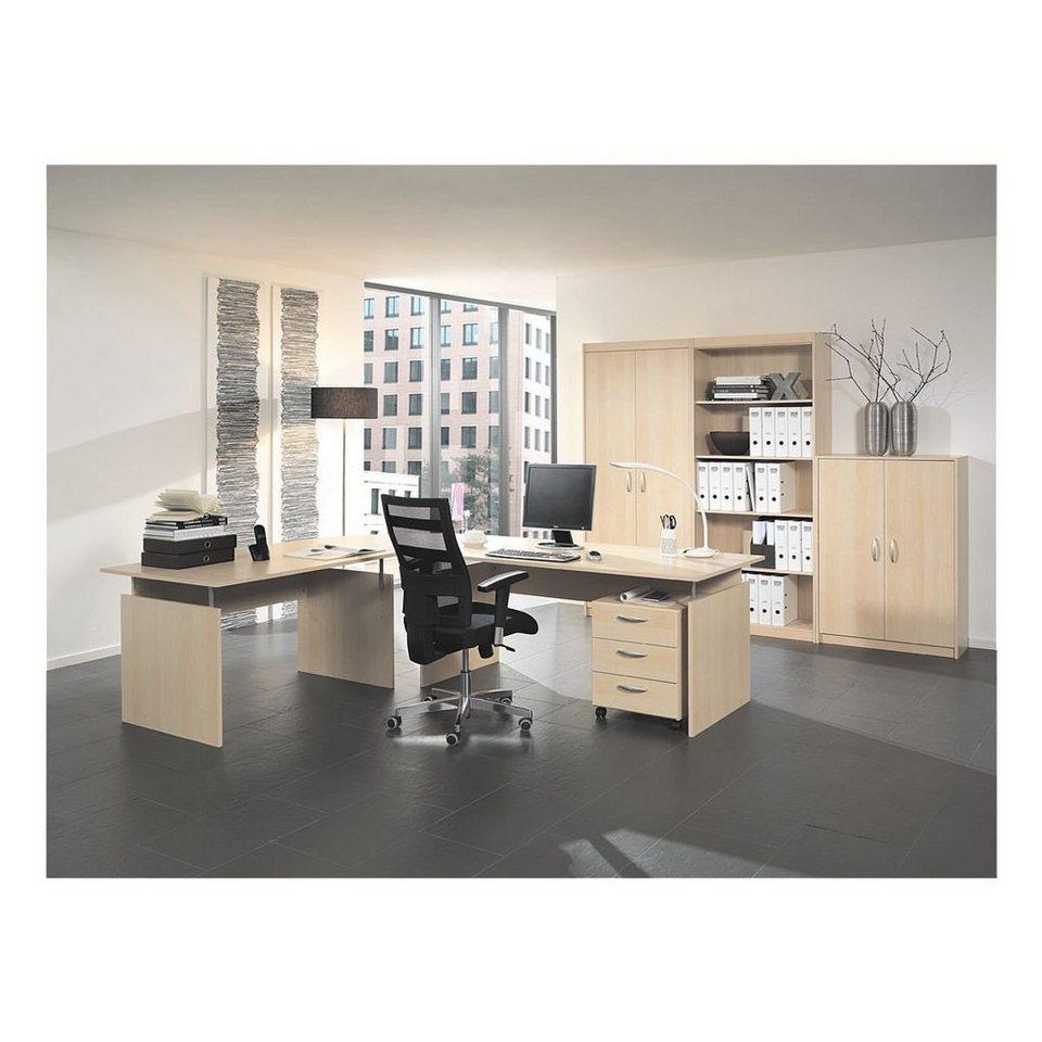 Wellemöbel Möbel-Set 7-teilig, Schreibtisch mit Wangenfuß »Adria ...