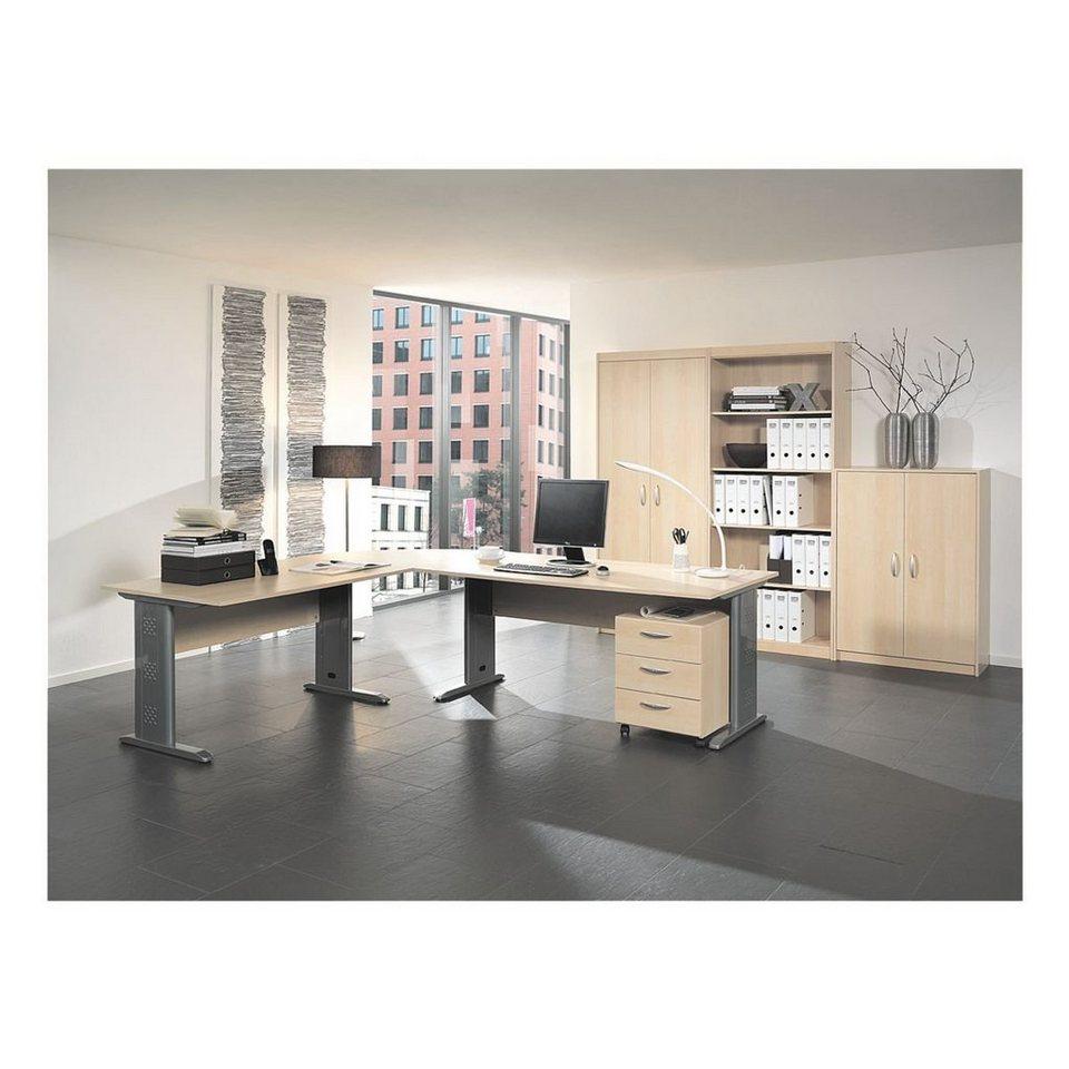 Wellemöbel Möbel-Set 7-teilig, Schreibtisch mit C-Fuß »Adria« online ...