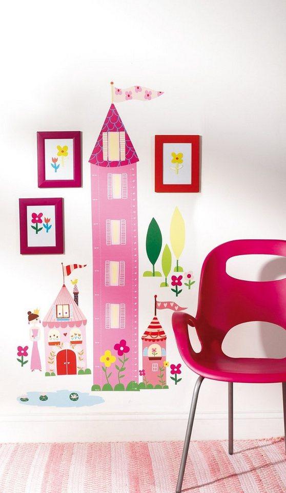 WALLIES Wandsticker Messlatte Prinzessin in pink