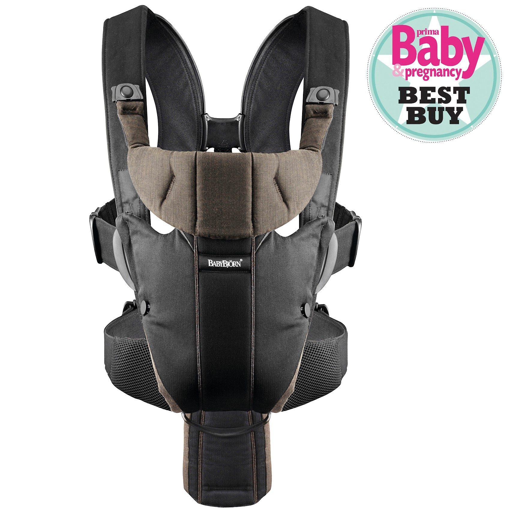 BabyBjörn Babytrage Miracle, schwarz/braun, Organic