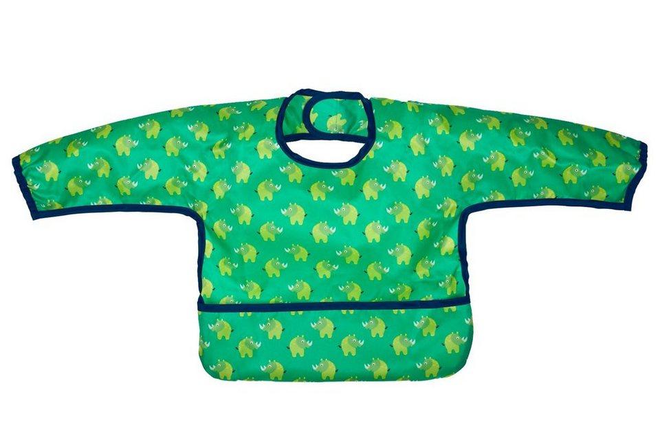 Lässig Ärmellätzchen mit Auffangtasche, Wildlife Rhino in blau/grün