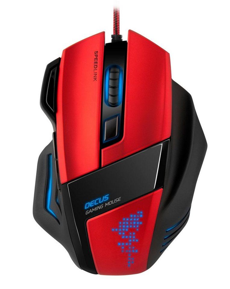 SPEEDLINK Maus »DECUS Gaming Maus rot«