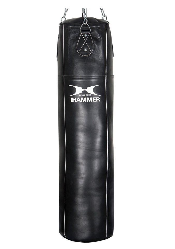 Boxsack, Rindsleder, schwarz , »Premium Professional«, Hammer® in schwarz