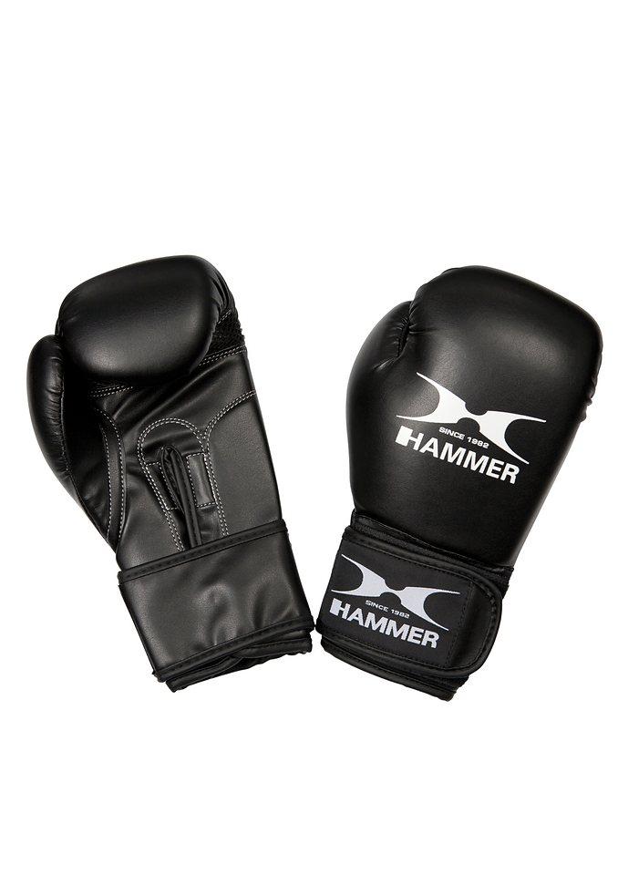 Boxhandschuhe Kinder, PU, schwarz, »Blitz«, Hammer® in schwarz