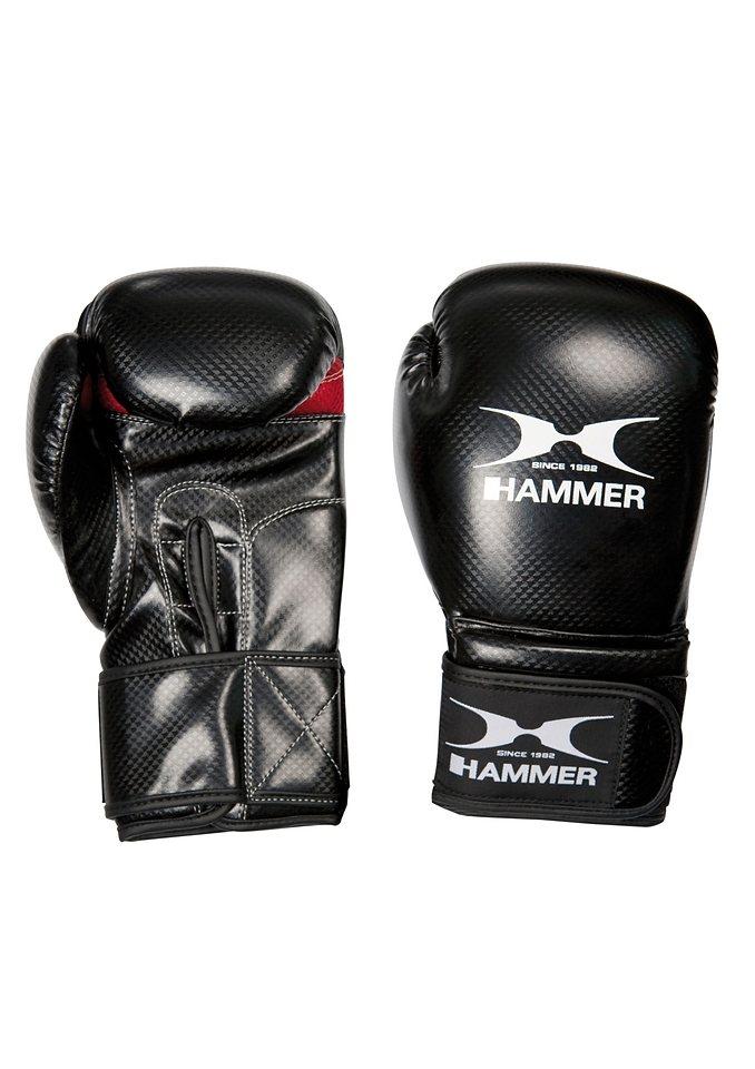 Boxhandschuhe, PU, schwarz-rot, »X-Shock«, Hammer® in schwarz-rot