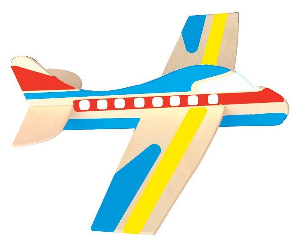 Playbox Modellflugzeuge aus Holz, 12 Stück