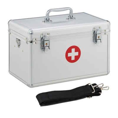 relaxdays Medizinschrank »Erste Hilfe Koffer Aluminium«