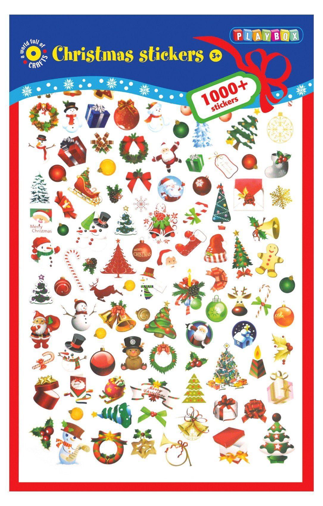 Playbox Weihnachtssticker, 1.000 Stück