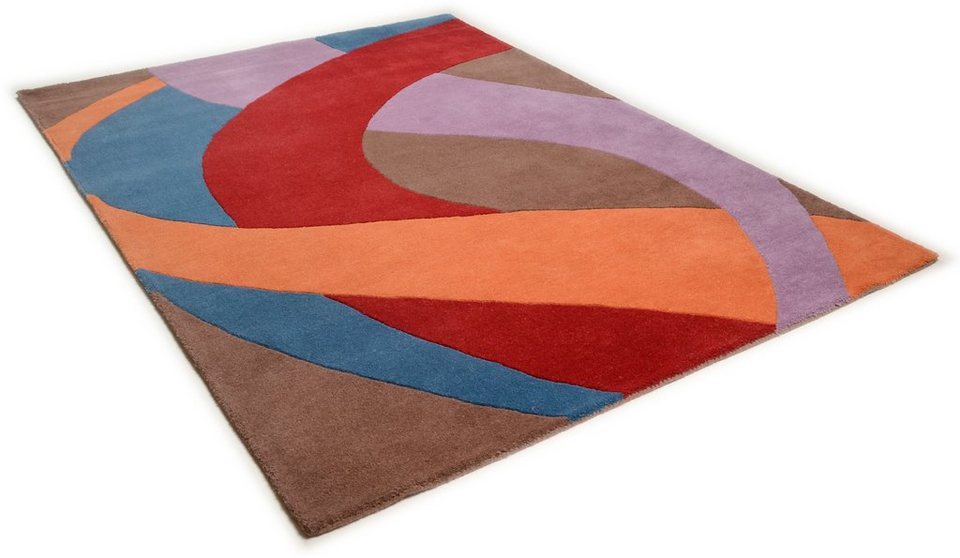 Teppich, Theko, »Hawai 6838«, handgearbeitet, Wolle in multicolour
