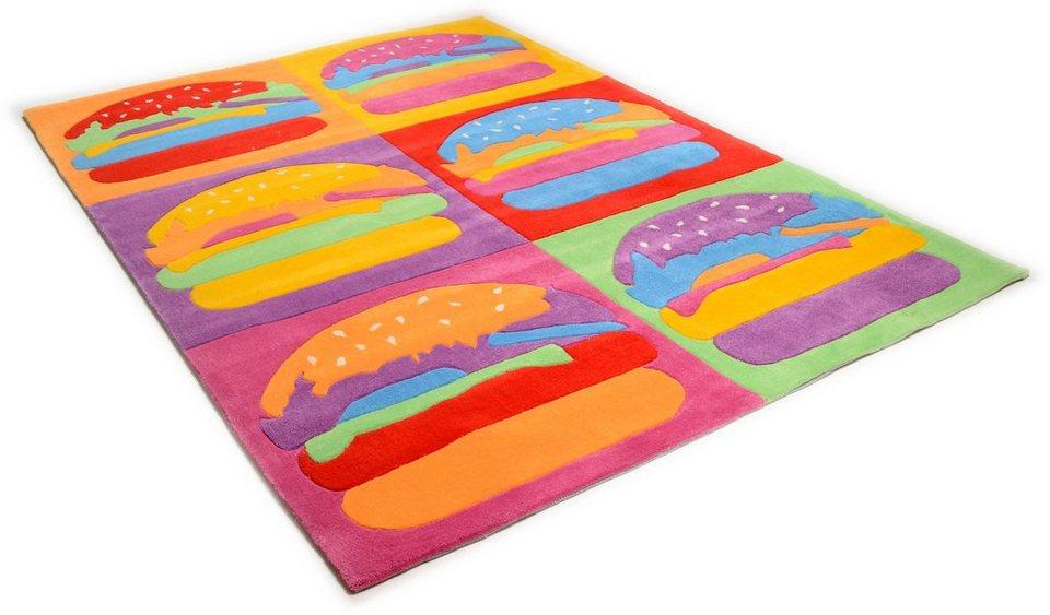 Kinder-Teppich, Theko, »Burger«, handgetuftet in multi