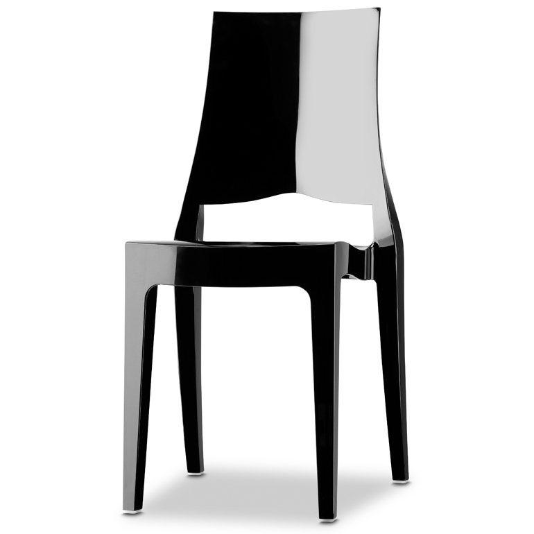 SalesFever Designer Stuhl stapelbar »Glenda« in schwarz