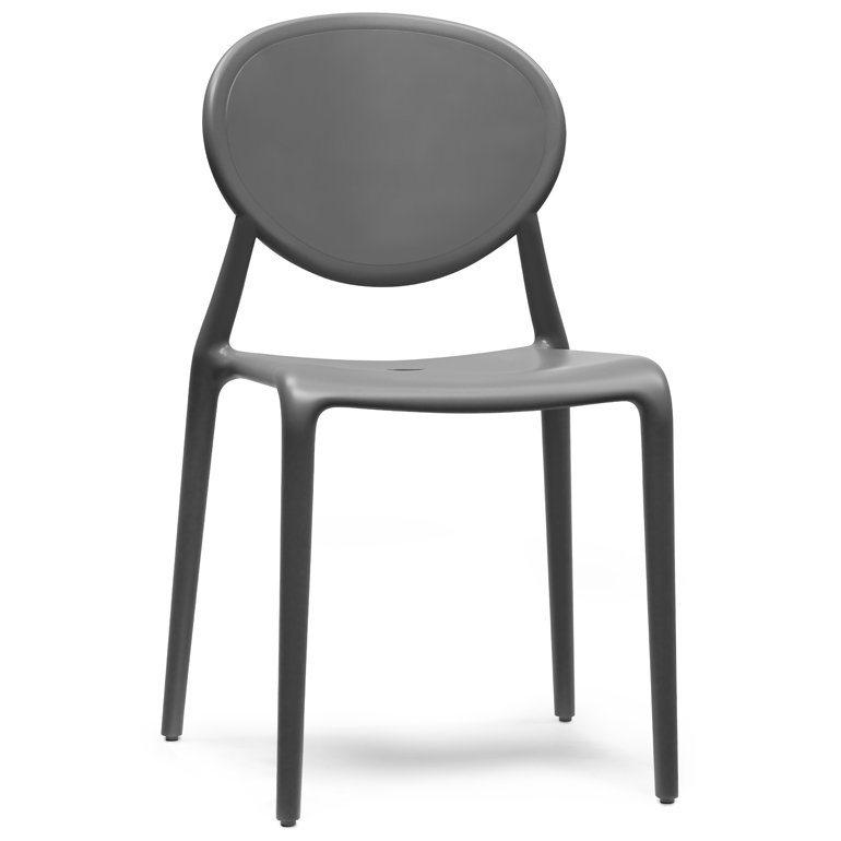 SalesFever Designer Stuhl stapelbar »Gio« in anthrazit