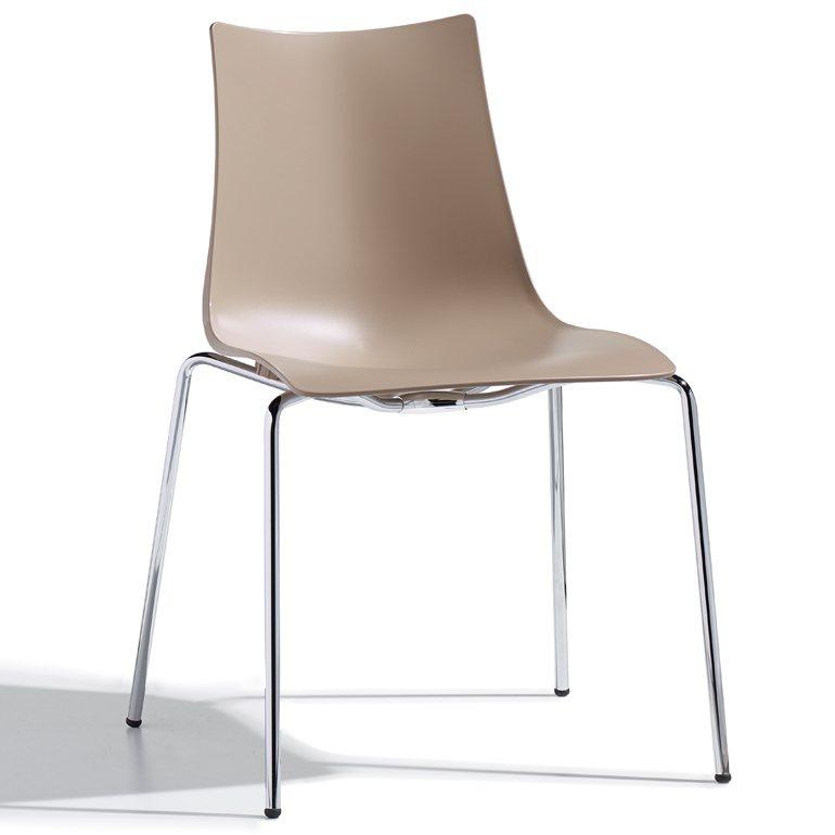 Salesfever designer stuhl mit chrombeinen zebra for Designer stuhl grau