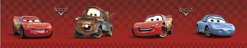 Decofun Bordüre Cars, rot in rot