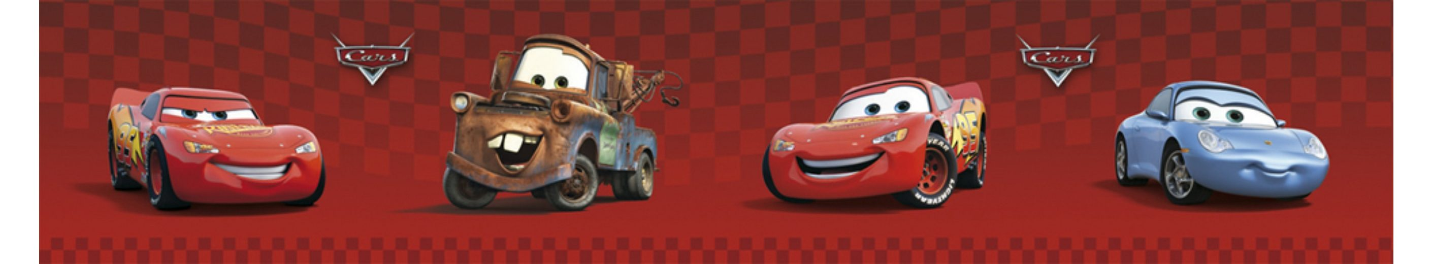 Decofun Bordüre Cars, rot