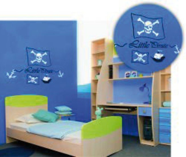 c kreul xxl wandschablone little pirate 3 tlg otto. Black Bedroom Furniture Sets. Home Design Ideas