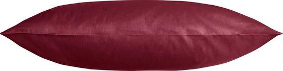 Kissenbezug »Edel-Satin Uni«, Kneer (1 Stück), aus mercerisierter Baumwolle