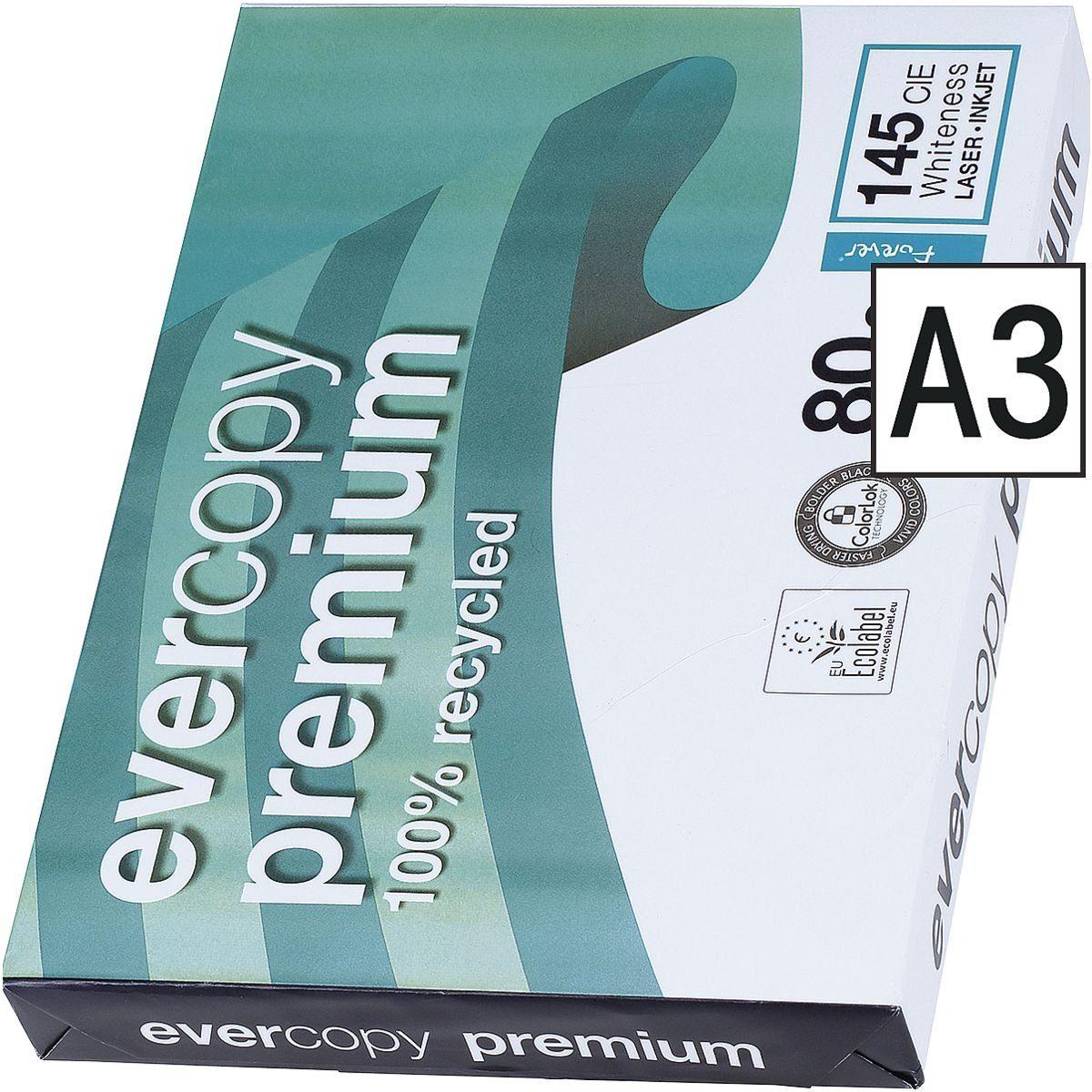 CLAIREFONTAINE Recycling Kopierpapier A3 500 Blatt »Everycopy Premium«