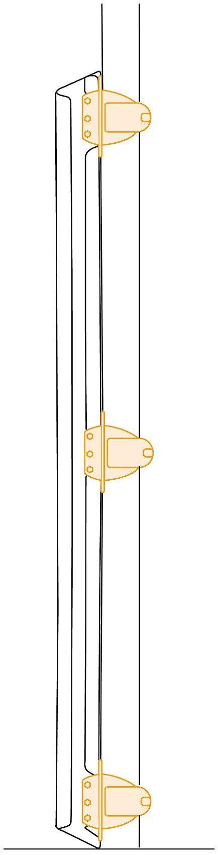 Lascal Rohrhalterungen für Schließleiste, 3er Set, weiß