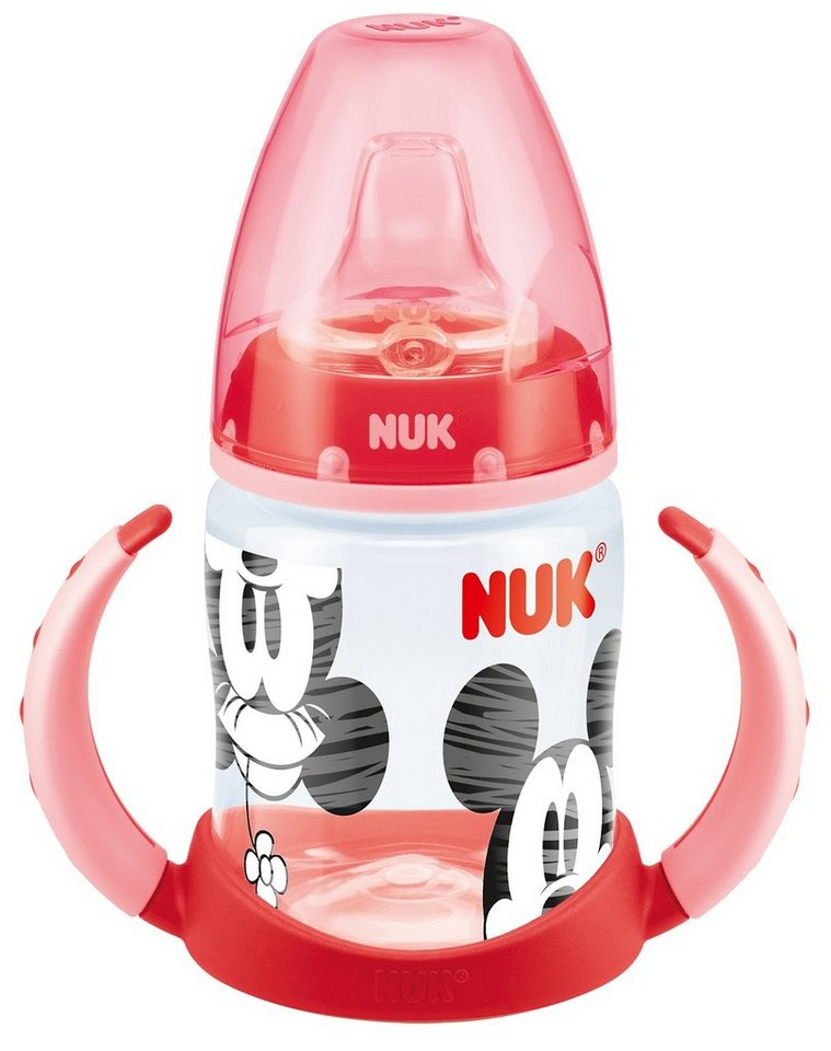 NUK Trinklernflasche FIRST CHOICE, PP, 150 ml, Silikon-Trinktüll in rot