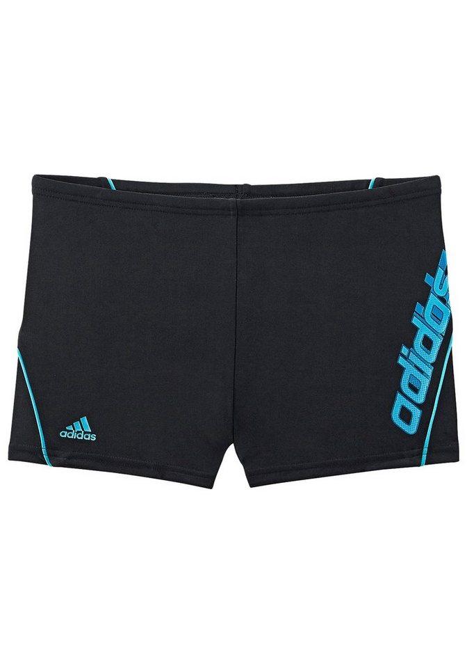 Boxer-Badehose, adidas Performance in schwarz-blau