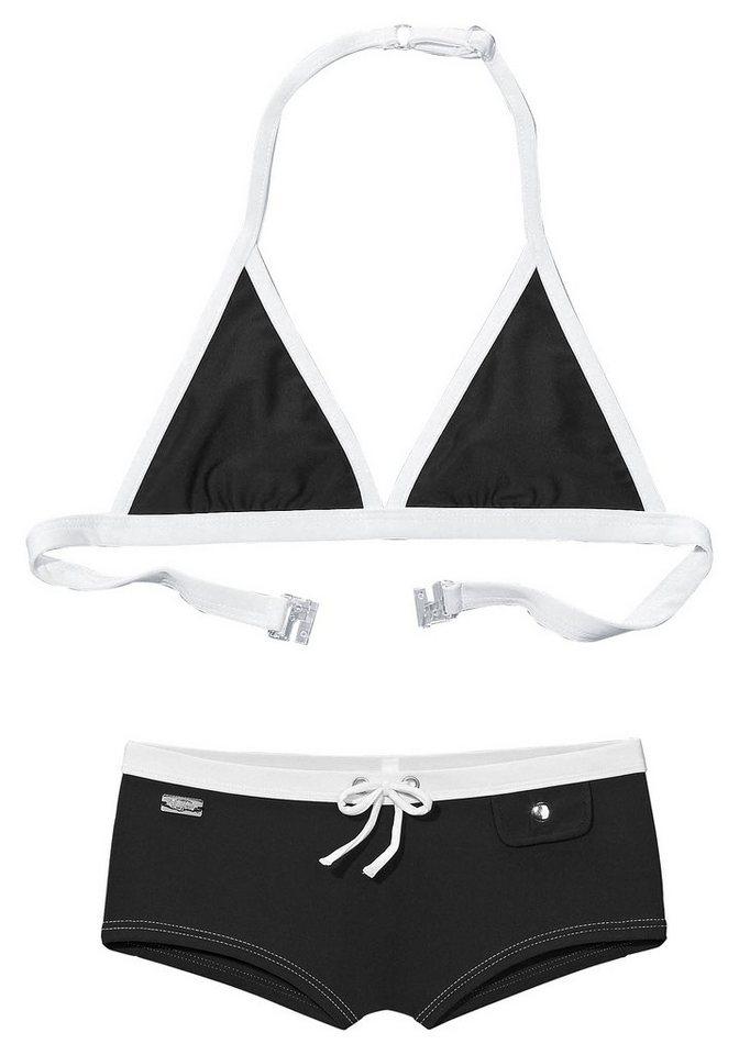Triangel-Bikini, Buffalo in schwarz- weiß