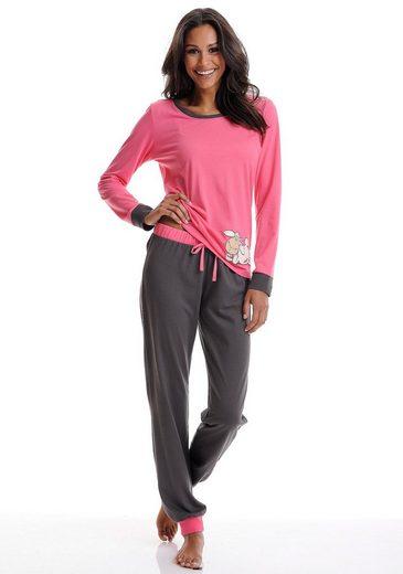NICI Zweifarbiger Pyjama mit Schäfchenprint
