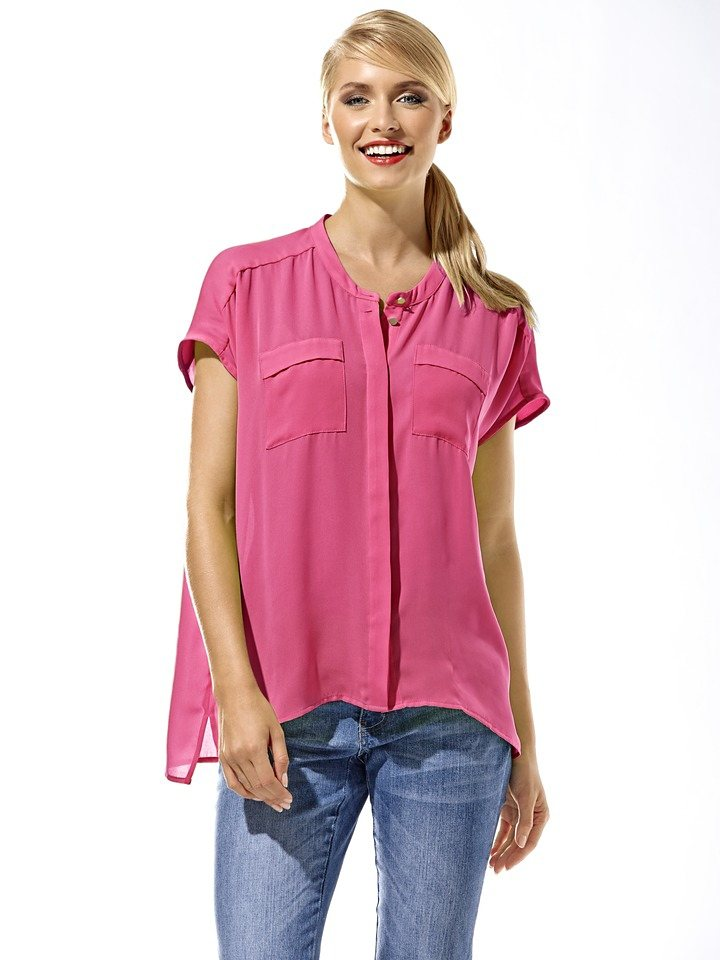 Oversized-Bluse in pink