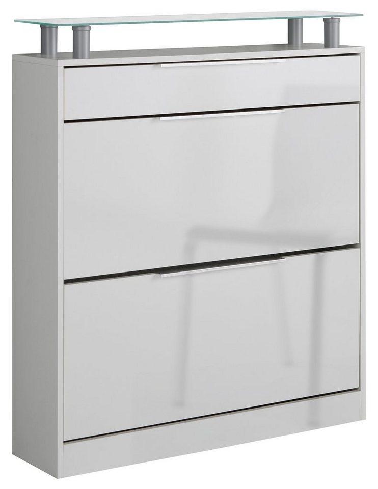 Schuhschrank »Astor« in Weiß-weiß glänzend