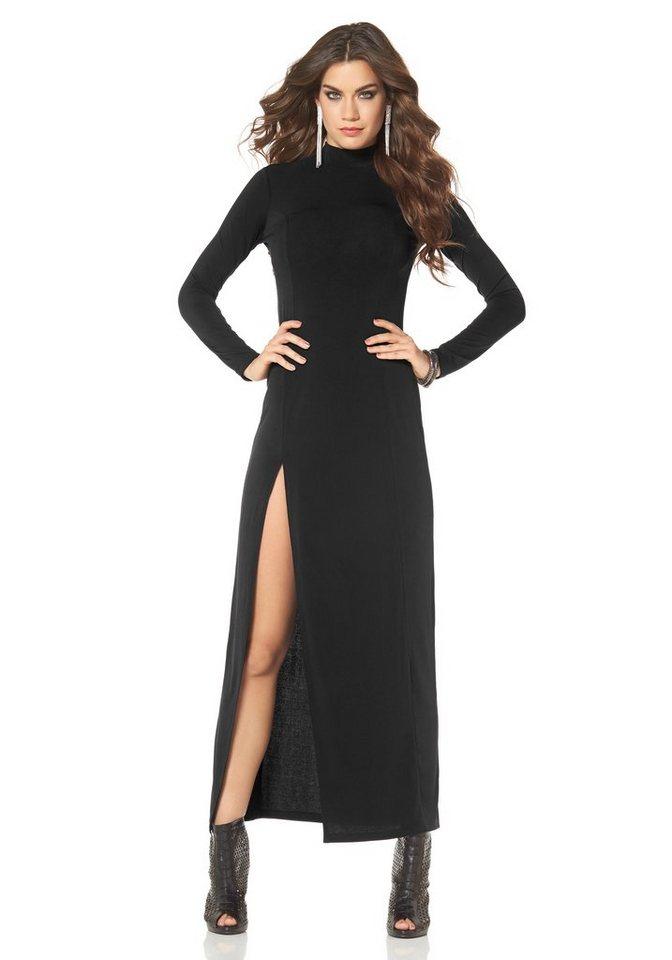 Laura Scott Abendkleid hoch geschlitzt in schwarz
