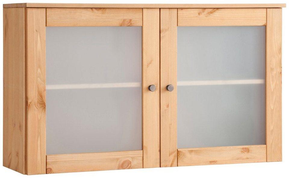 Hängeschrank »Föhr«, mit 2 Türen aus Milchglas in geölt