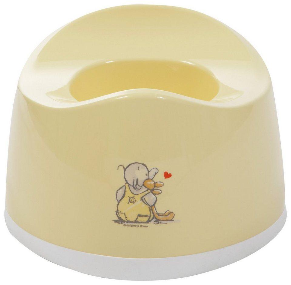 bébé-jou Töpfchen Humphrey, oval, gelb in gelb