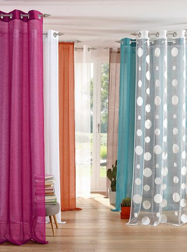 Gardine »REGINA«, my home, Kräuselband (2 Stück), Vorhang, Fertiggardine, transparent