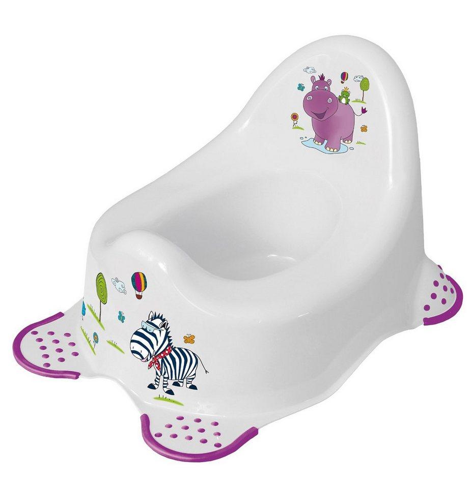 OKT kids Töpfchen Deluxe Hippo, weiß in weiß