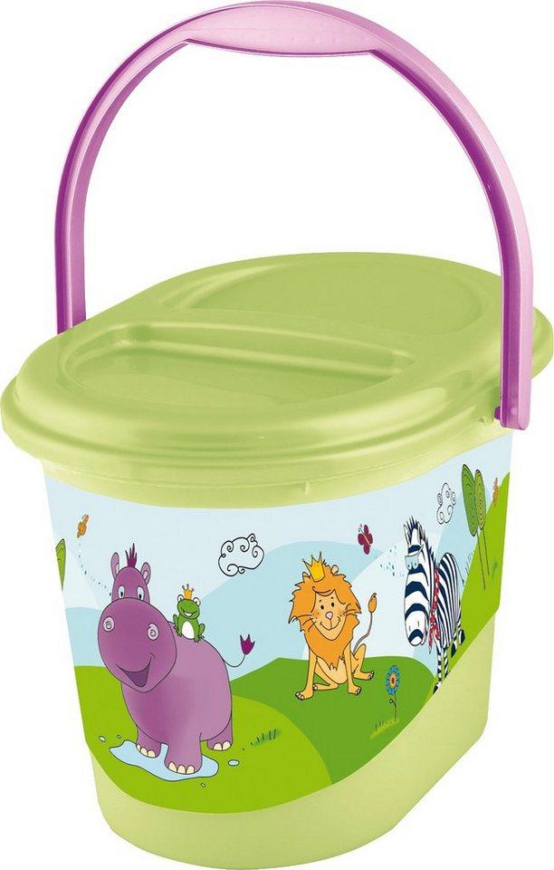 OKT kids Windeleimer Hippo, limegrün in grün