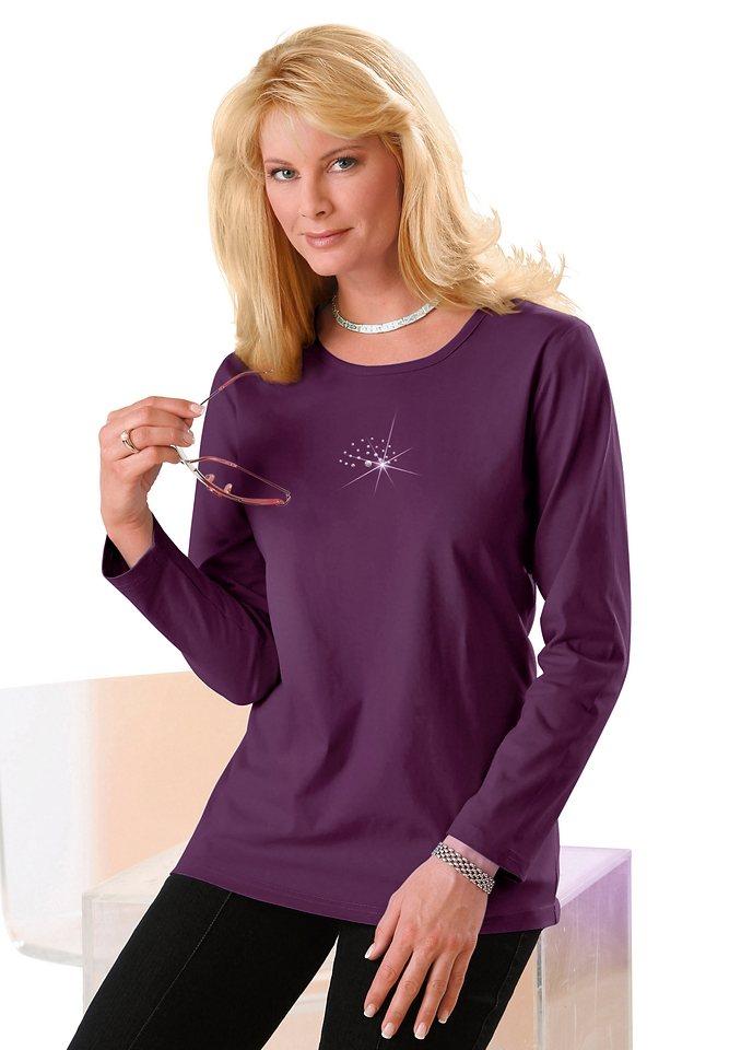 Classic Basics Shirt aus reiner Baumwolle in violett