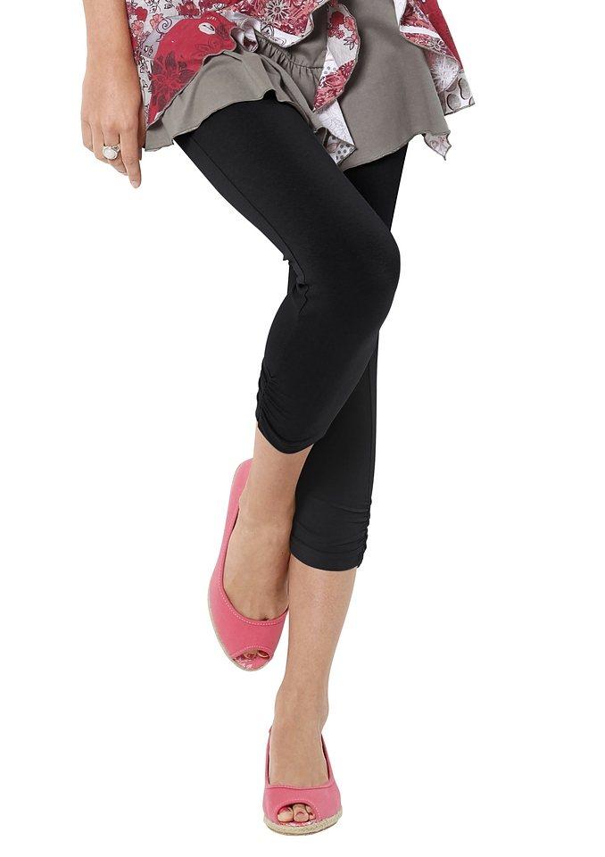 Classic Basics Leggings mit Rundum-Dehnbund in schwarz