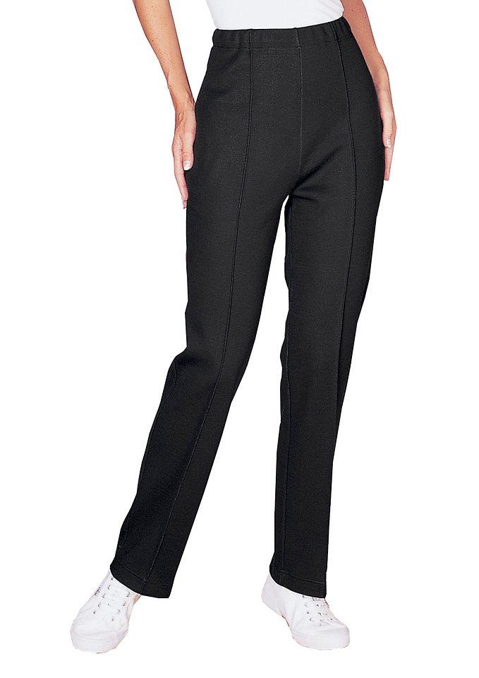 Damen Classic Basics Kurhose mit breitem Dehnbund schwarz | 04048497005111